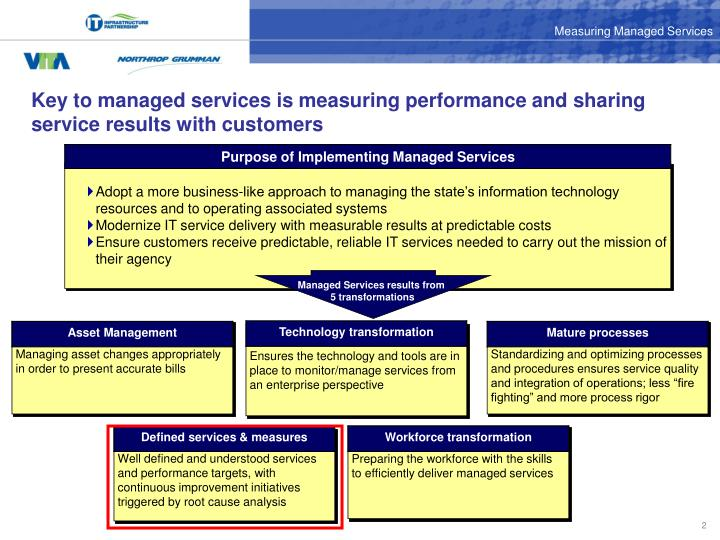 Key to managed services is measuring performance and sharing service results with customers