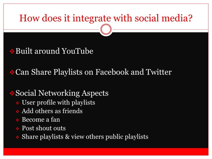How does it integrate with social media?