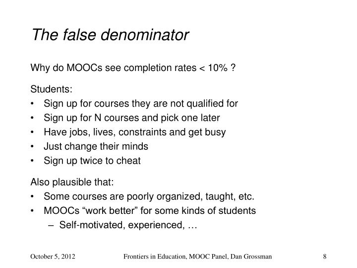 The false denominator