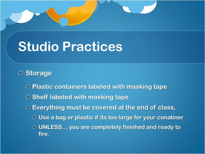 Studio Practices