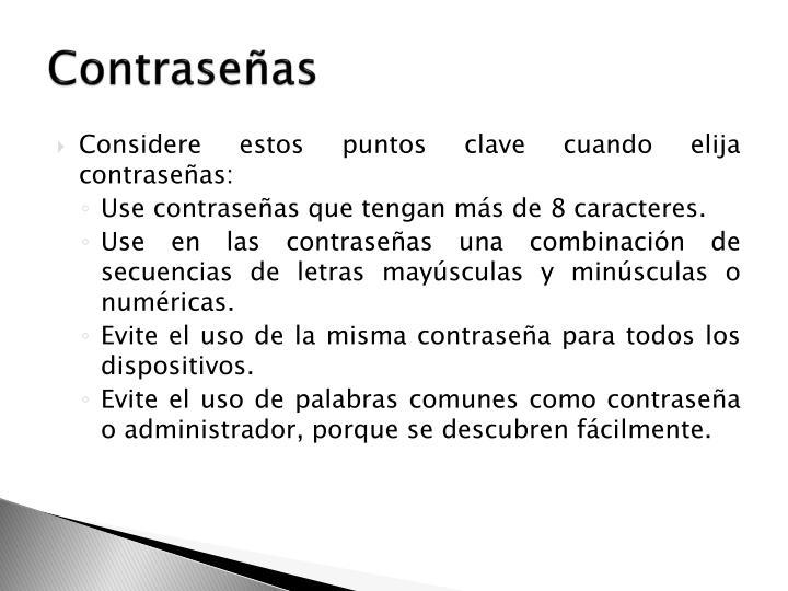 Contraseñas