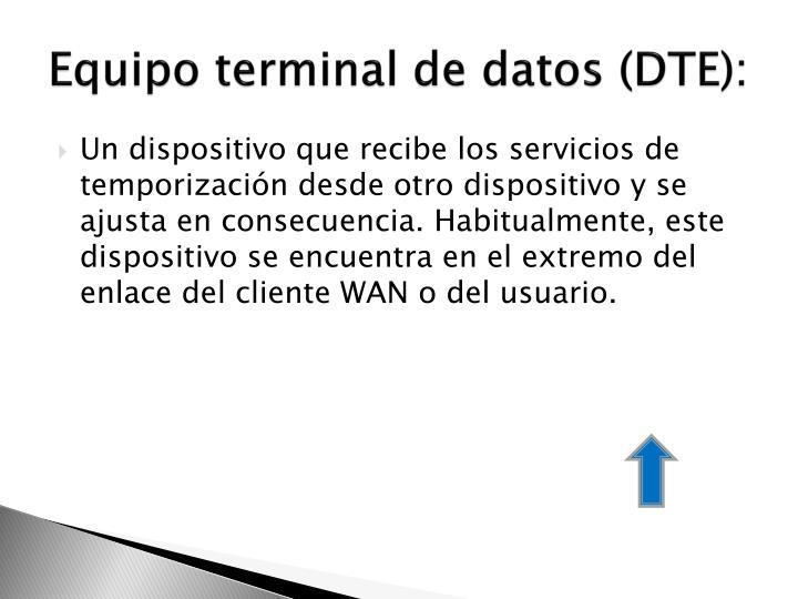 Equipo terminal de datos (DTE):