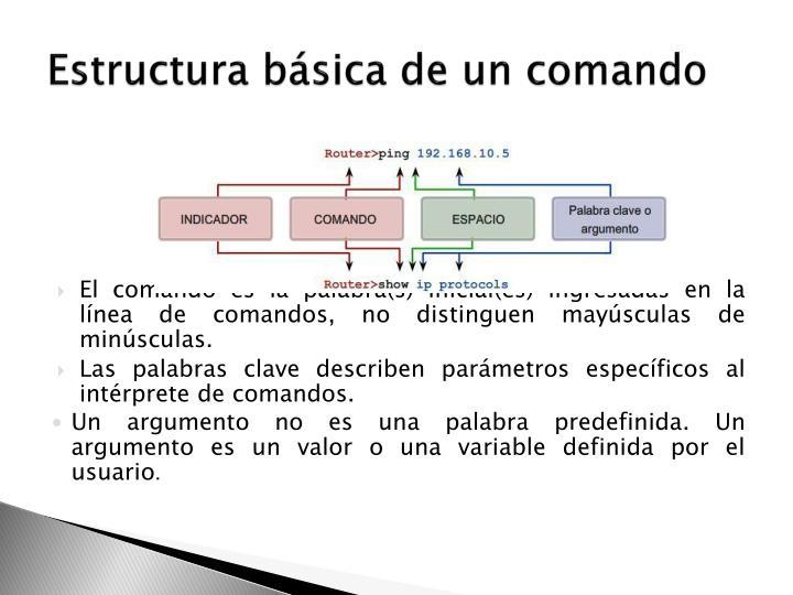 Estructura básica de un comando