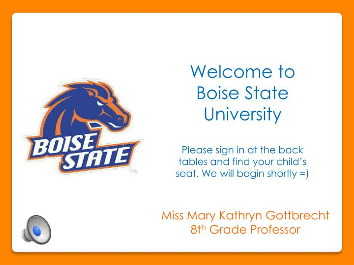 Welcome to Boise State