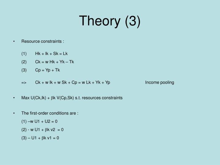 Theory (3)