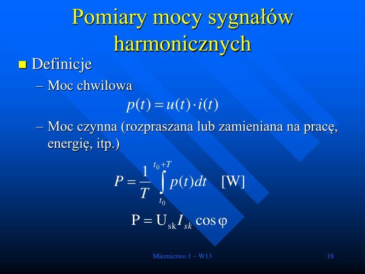 Pomiary mocy sygnałów harmonicznych