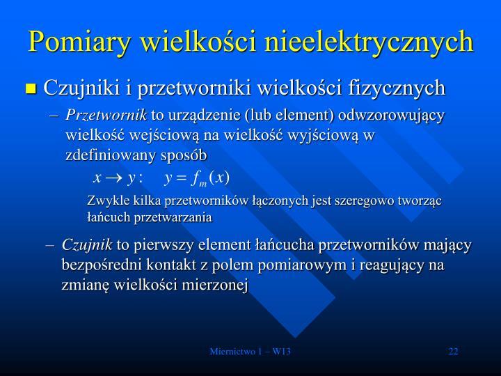 Pomiary wielkości nieelektrycznych