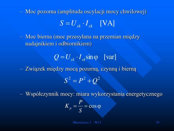 Moc pozorna (amplituda oscylacji mocy chwilowej)