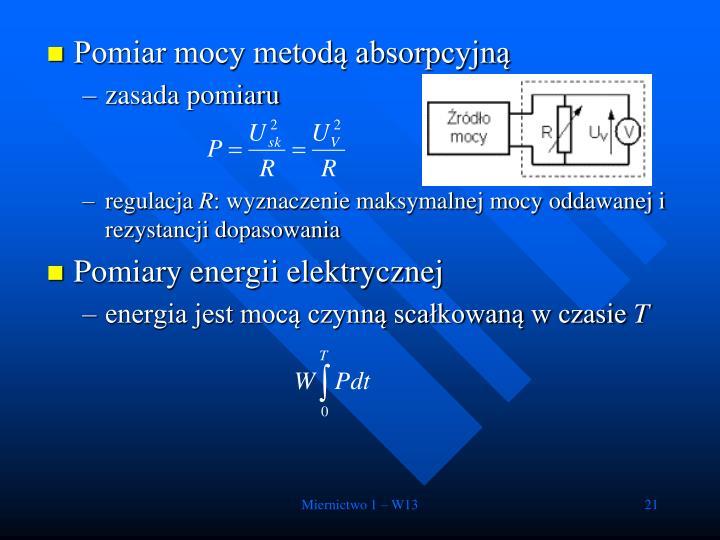 Pomiar mocy metodą absorpcyjną