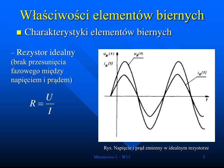 W a ciwo ci element w biernych