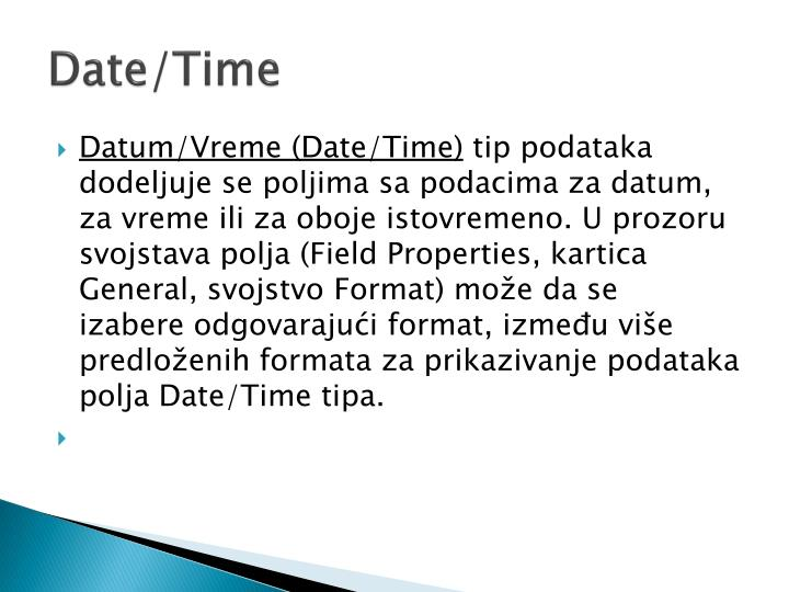Date/Time