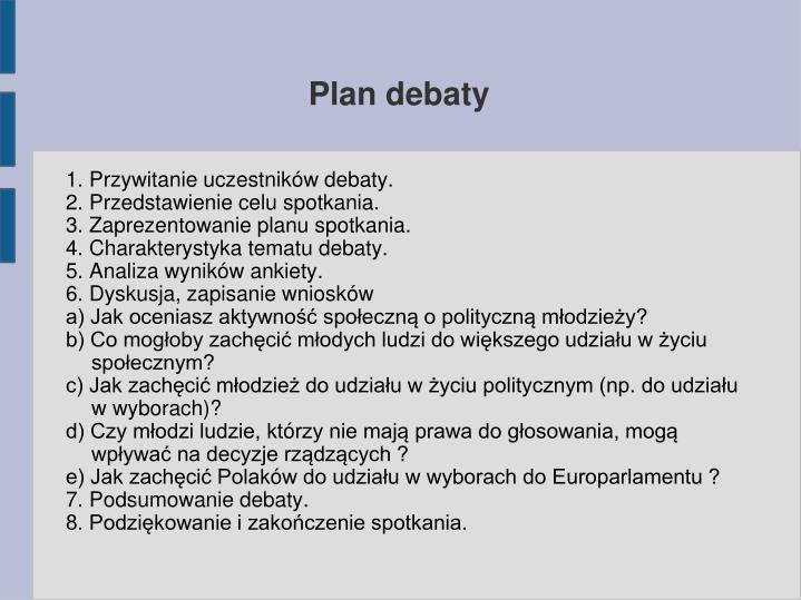 Plan debaty