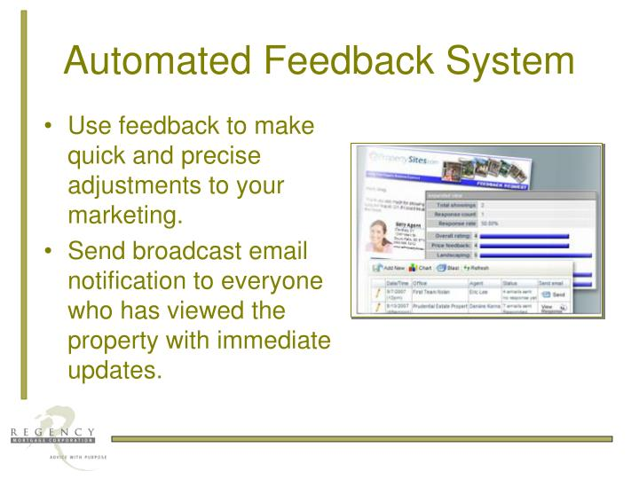 Automated Feedback System