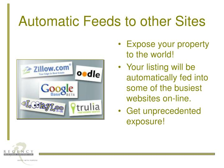 Automatic Feeds to other Sites