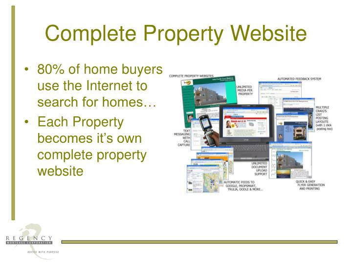 Complete property website