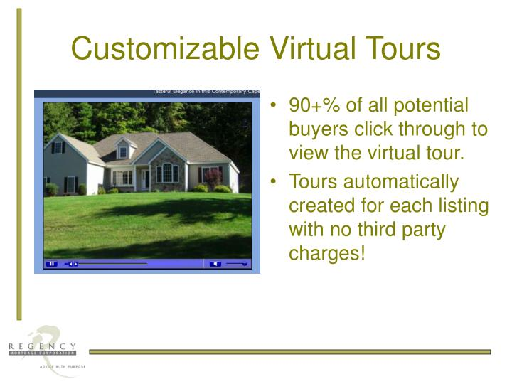 Customizable Virtual Tours