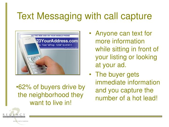 Text Messaging with call capture