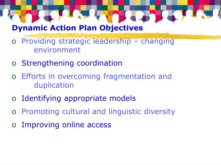 Dynamic Action Plan Objectives