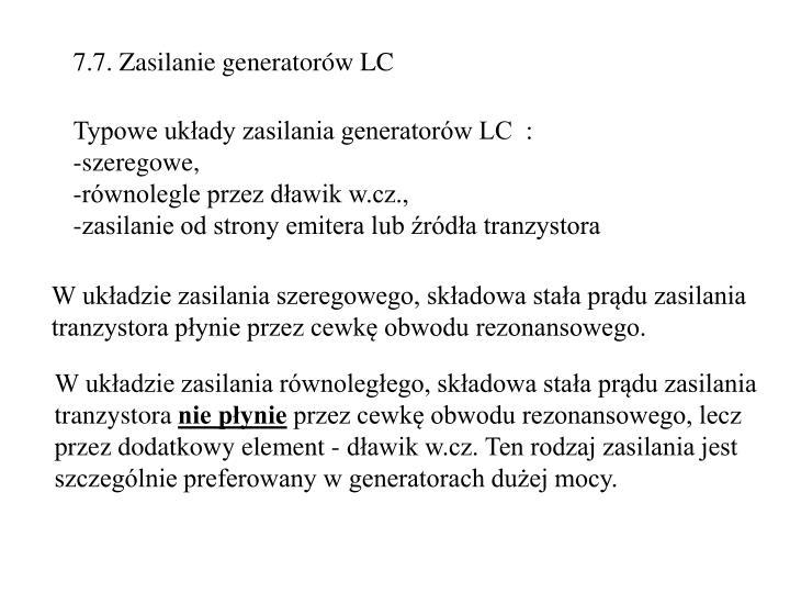 7.7. Zasilanie generatorów LC