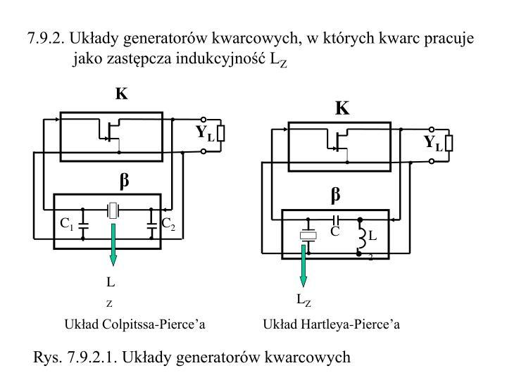 7.9.2. Układy generatorów kwarcowych, w których kwarc pracuje