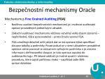bezpe nostn mechanismy oracle7