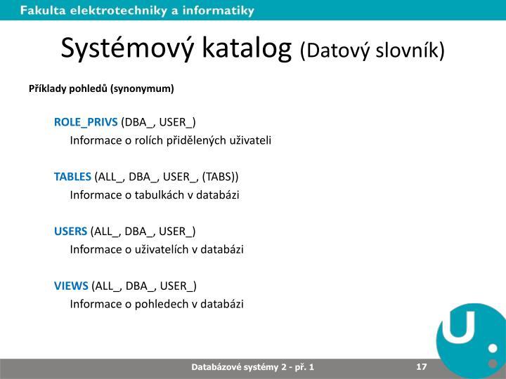 Systémový katalog