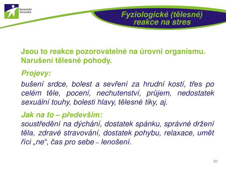 Fyziologické (tělesné)