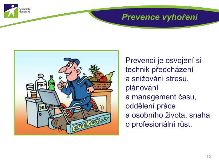 Prevence vyhoření