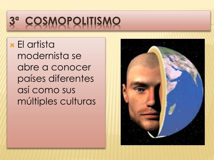 3ª  COSMOPOLITISMO