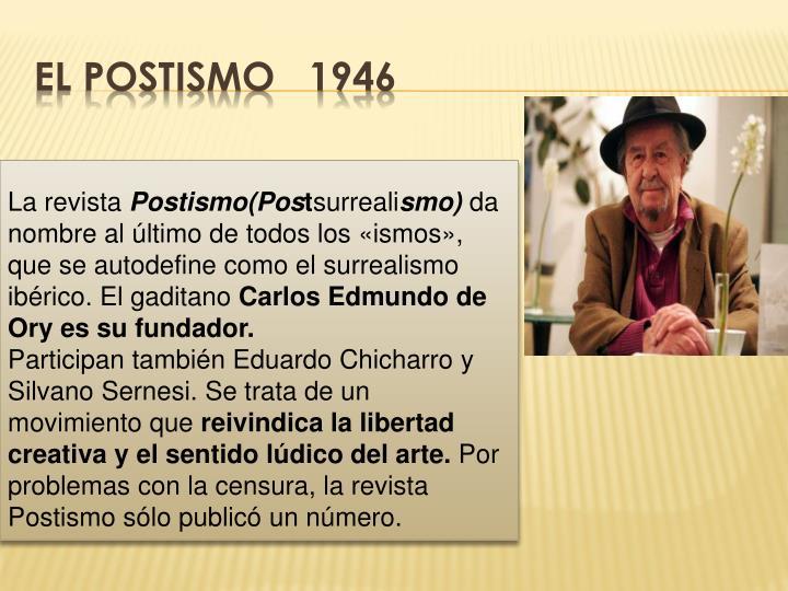 EL POSTISMO   1946