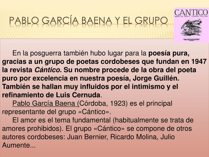 PABLO GARCÍA BAENA Y EL GRUPO