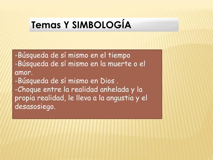 Temas Y SIMBOLOGÍA