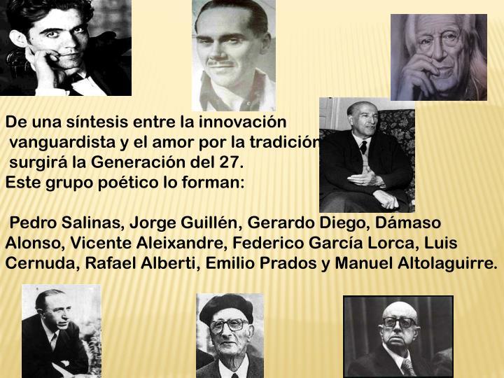 De una síntesis entre la innovación