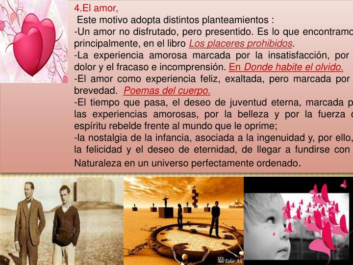 4.El amor,