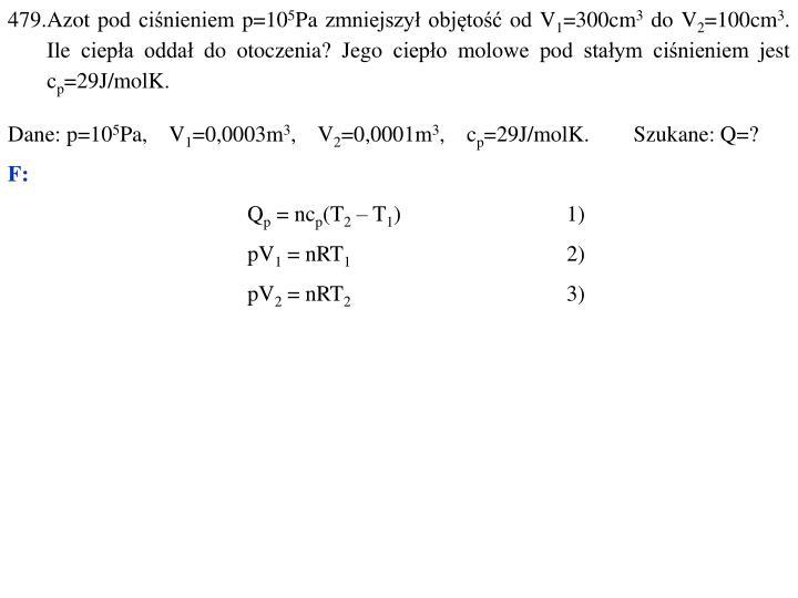 479.Azot pod ciśnieniem p=10
