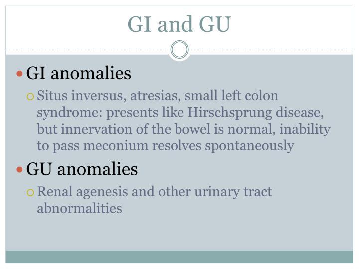 GI and GU