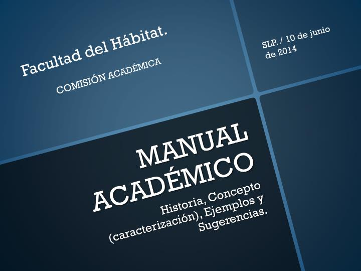 Manual acad mico