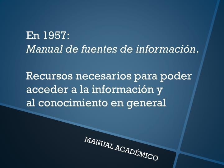 En 1957: