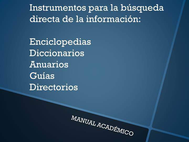 Instrumentos para la b
