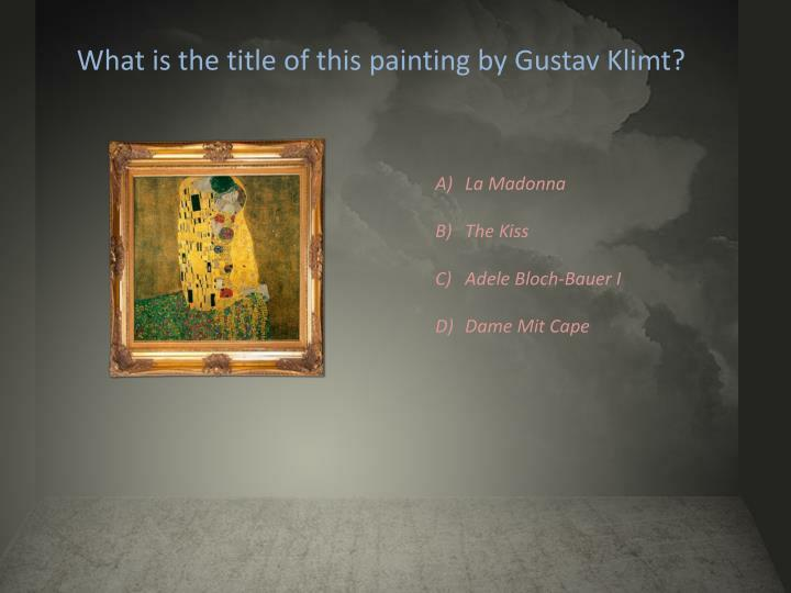 What is the title of this painting by Gustav Klimt?
