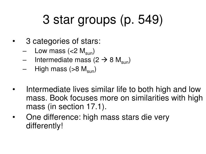 3 star groups (p. 549)