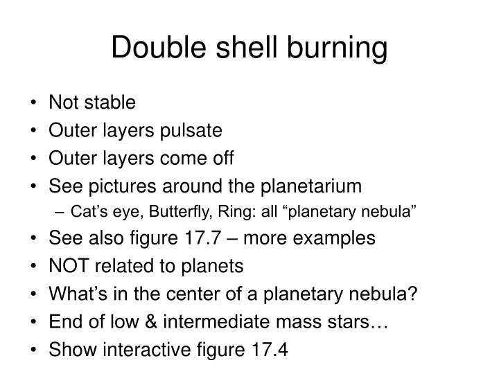 Double shell burning