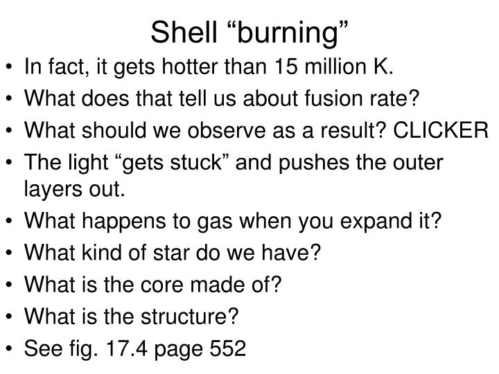 "Shell ""burning"""