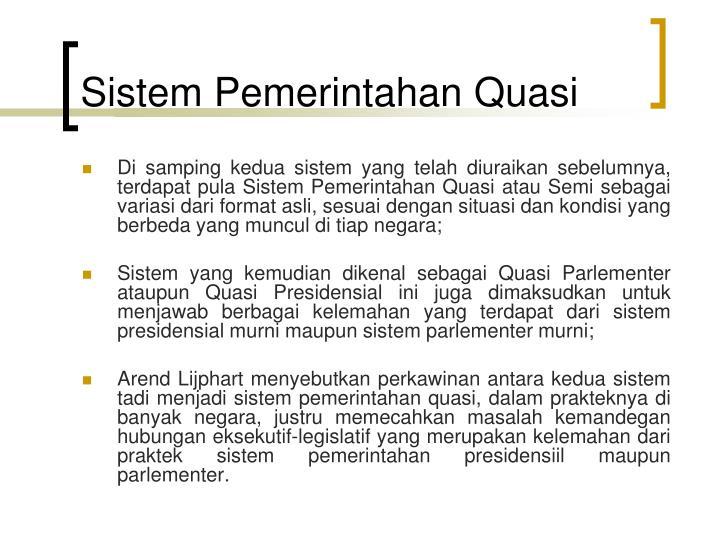 Sistem Pemerintahan Quasi