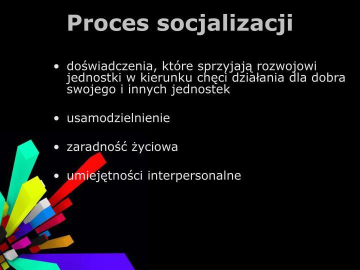Proces socjalizacji