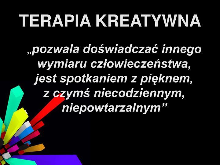 TERAPIA KREATYWNA