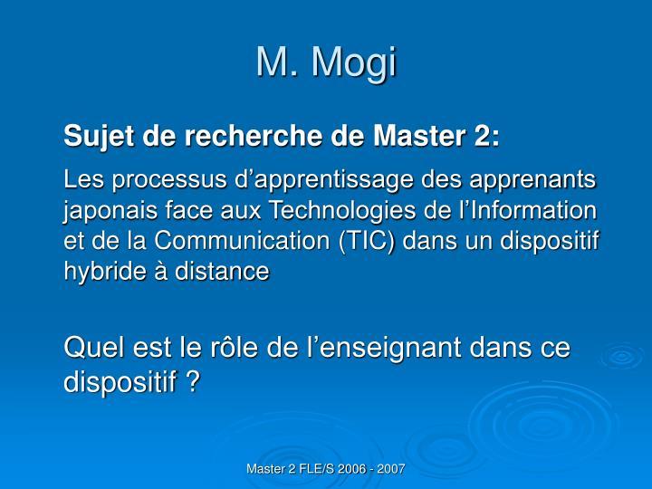M. Mogi