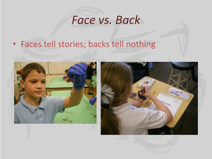 Face vs. Back