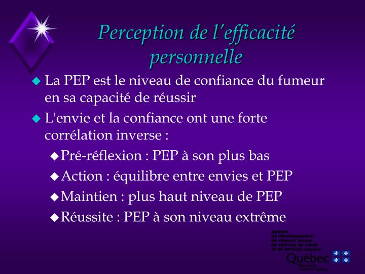 Perception de l'efficacité personnelle