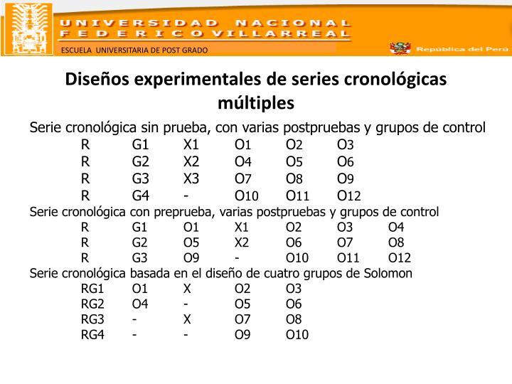 Diseños experimentales de series cronológicas múltiples
